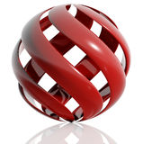 Sphere created of spiral elements. Royalty Free Stock Photography