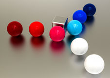 Sphere Critical point Royalty Free Stock Photo