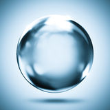 Sphere crystal reflection background Stock Image