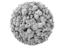 Sphere from cubes Stock Photos