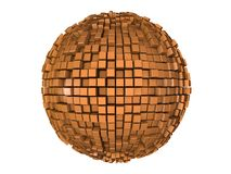 Sphere from n-gons Stock Image