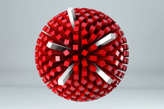 Sphere of cubes 3D render image Stock Photography