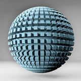Sphere of cubes. 3D render image Stock Photo