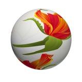 Sphere 3D Flower orange rose vintage illustration. Sphere 3D Flower orange rose vintage on a white background illustration Royalty Free Stock Images