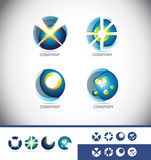 Sphere 3d logo icon set Royalty Free Stock Photo