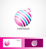 Sphere 3d pink blue logo Stock Photos