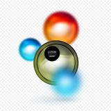 Sphere 3d vector banner. Abstract background Stock Image
