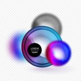 Sphere 3d vector banner Royalty Free Stock Image