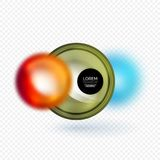 Sphere 3d vector banner Royalty Free Stock Photos