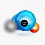 Sphere 3d vector banner Royalty Free Stock Photography