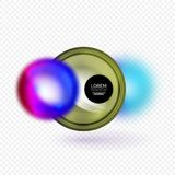Sphere 3d vector banner Royalty Free Stock Images