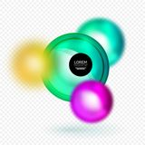 Sphere 3d vector banner Royalty Free Stock Photo