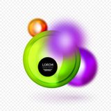 Sphere 3d vector banner. Abstract background Stock Photo