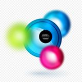 Sphere 3d vector banner. Abstract background Stock Photos