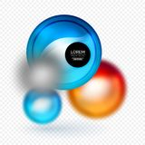 Sphere 3d vector banner. Abstract background Stock Photography