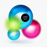 Sphere 3d vector banner Stock Images
