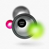 Sphere 3d vector banner. Abstract background Stock Images