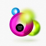 Sphere 3d vector banner. Abstract background Royalty Free Stock Photography