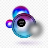 Sphere 3d vector banner. Abstract background Royalty Free Stock Photos