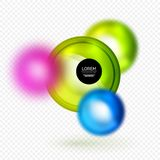 Sphere 3d vector banner Stock Photography