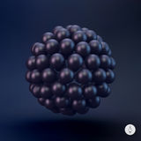 Sphere. 3d vector template. Abstract illustration Stock Images