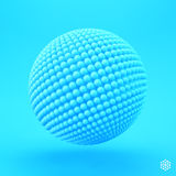 Sphere. 3d vector template. Abstract illustration Royalty Free Stock Images