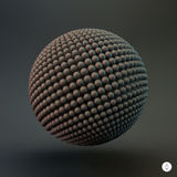 Sphere. 3d vector template. Abstract illustration Royalty Free Stock Photography