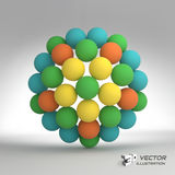 Sphere. 3d vector template. Abstract illustration Royalty Free Stock Photo