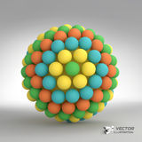 Sphere. 3d vector template. Abstract illustration Stock Photography