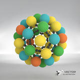 Sphere. 3d vector template. Abstract illustration Stock Photos