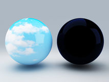 Sphere day and night Stock Image