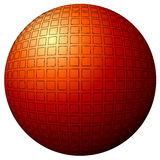 Sphere design. Design of sphere cover with black squares Stock Photography