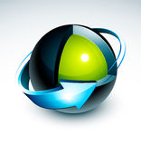 Sphere design Royalty Free Stock Image