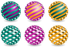 Sphere design elements, vector abstract globes Royalty Free Stock Image
