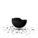 Sphere destroyed 3D Royalty Free Stock Photography