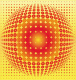 Sphere digital background Stock Image
