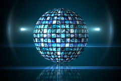 Sphere of digital screens in blue Royalty Free Stock Photos