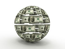 Sphere from dollar Royalty Free Stock Image