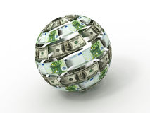 Sphere from dollar Stock Photos