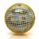 Sphere from dollar. On a white background stock illustration