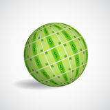Sphere with dollar Stock Photography