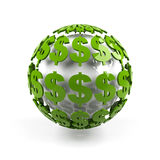 Sphere from dollar sign. Royalty Free Stock Photo