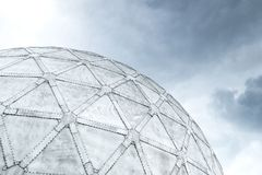 Geodesic sphere dome architecture construction design. Sphere dome architecture construction design stock photos