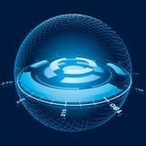 sphere för fantasinavigeringavstånd Arkivbilder