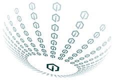 sphere för symbol info vektor illustrationer