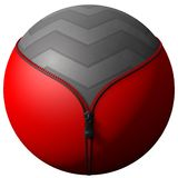 Sphere formed zipper Royalty Free Stock Photo