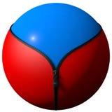 Sphere formed zipper Stock Photos