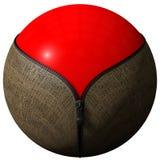 Sphere formed zipper Stock Photo