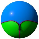 Sphere formed zipper Stock Image