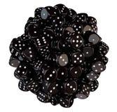 Sphere från svart tärning Royaltyfria Foton